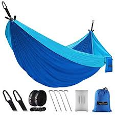 double single outdoors hammocks lightweight nylon portable hammock best parachute for backpacking camping hiking