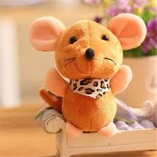 1PCS Cute <b>Plush</b> Big Ear Scarf <b>Mouse Toys</b> Small Pendant Mini <b>Soft</b> ...