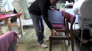 Reupholstering Dining Room Chairs How To Upholster Dining Room Chairsmov Youtube