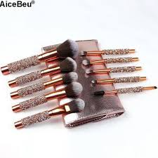 AiceBeu <b>10Pcs</b> Set Diamond <b>Makeup Brushes</b> Kit <b>Women</b> Make Up