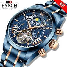 HAIQIN Automatic mechanical Watch <b>Men watches 2019 luxury</b> ...