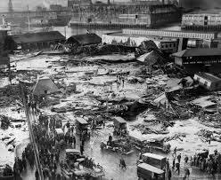 solving a mystery behind the deadly tsunami of molasses of  a tank containing millions of gallons of molasses erupted in boston in 1919 killing 21 people and destroying buildings in the north end credit