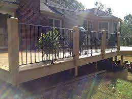 railing patio wrought wood posts and wrought iron hand rails and pickets