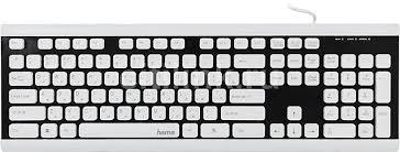 <b>Клавиатура HAMA</b> Covo, USB, черный + белый [<b>r1173000</b>]