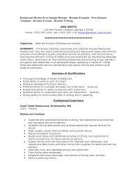 cover letter sample restaurant hostess