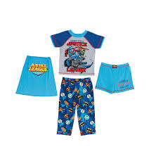 sleepwear character kids 3 piece pajama set justice league