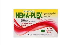 Nature's Plus, Hema-Plex, 30 <b>таблеток</b> с <b>длительным</b> ...