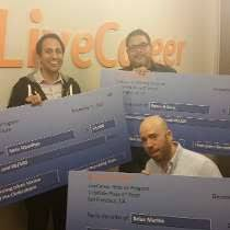 livecareer reviews  glassdoor livecareer photo of employees show off their referral checks