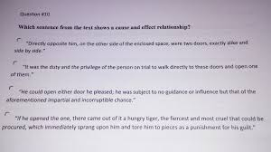 which of these sentences from the lady or the tiger by stockton which of these sentences from the lady or the tiger by stockton shows a cause and effect relationship enotes