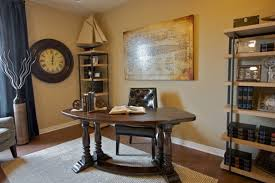 captivating grey colored floor carpet covering wooden floor below rustic home office desks and neat submarine building plan in the wall next to bookshelves captivating design home office desk