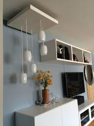 hanging pendant lamps using ikea lack table shades and cables cable lighting ikea