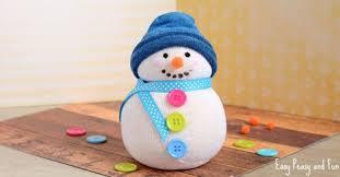 No-Sew <b>Sock Snowman</b> Craft - Easy Peasy and Fun
