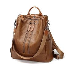 <b>POMELOS</b> Soft Leather <b>Women Backpack</b> Anti Theft Brand <b>New</b> ...