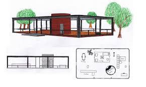 Philip johnson  House floor plans and Floor plans on Pinterest