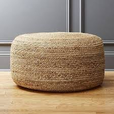 <b>Braided</b> hemp jute <b>pouffe</b> | Floor <b>pouf</b>, Living room <b>pouf</b>, <b>Pouf</b>