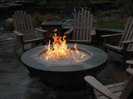 living gas fire pit finishes