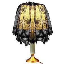 <b>Halloween</b> Knitted Curtain Lamp Cover Black Spider <b>bat lace</b> Yogurt ...