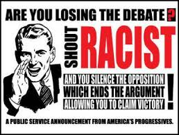 Image result for shout racism to shut down a debate
