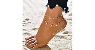 Artmiss Boho Women's Anklet <b>Infinity Anklet</b> Gold <b>Barefoot Sandal</b> ...
