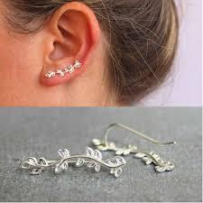 <b>1 Pair Women</b> Fashion Cuff Earring Ear Crawler Silver/Gold Color ...