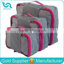 <b>Yiwu</b> Bag <b>Factory Direct Sale</b> 3 Pcs Set Packing Cubes Zig Zag Print ...