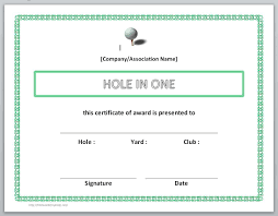 certificate templates for word microsoft and open office golf hole in one certificate templates