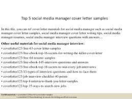 top  social media manager cover letter samplestop  social media manager cover letter samples in this file  you can ref cover