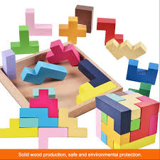 <b>Wooden</b> 3D Tetris Game Educational Jigsaw <b>Puzzle Toys Wood</b> ...