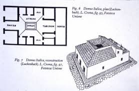A Home in Pompeii  ProcessFloor plan and a detailed elevation