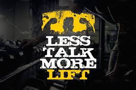<b>Less talk</b> - Typography Design ~ Illustrations ~ <b>Creative</b> Market