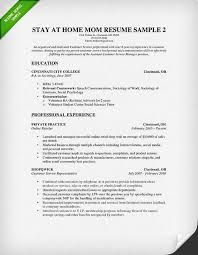 how to write a stay at home mom resume   resume geniusstay at home mom resume some experience