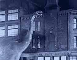 Image result for images of dinosaur in london from 1925's the lost world