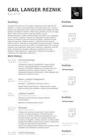 paralegal resume samples   visualcv resume samples databasecontract paralegal resume samples