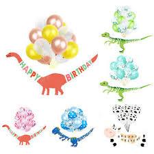 <b>Dinosaur Banner</b> with 15Pcs <b>Balloons</b> Set Kids <b>Happy</b> Birthday ...