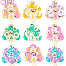 <b>QIFU</b> 15Pcs Latex Confetti <b>Balloon</b> Mermaid Baloon Unicorn ...