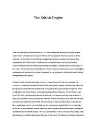 essay on the british empire   studienettno essay on the british empire