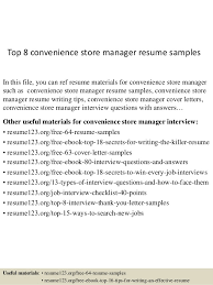 top  convenience store manager resume samplestop  convenience store manager resume samples in this file  you can ref resume materials
