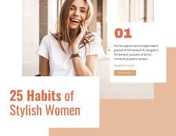 25 Habits of <b>Stylish Woman</b> CSS Template