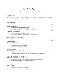 resume pattern of resume printable pattern of resume