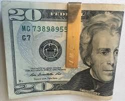 14K Yellow Gold Tie Bar Money Clip <b>6.0g</b> Money Men's Jewelry ...