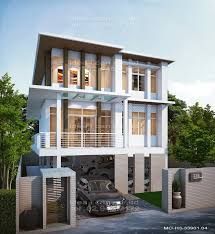 Modern Tropical House Plans  amp  Contemporary Tropical    The Three Story Home Plans  Modern Style  Plan model MO H     Home plan for    Suitable for construction in Thailand  The function of the plans
