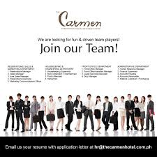 careers at the carmen hotel the carmen hotel or fill out the job application form below