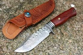 <b>2018 New</b> Damascus Survival Straight <b>Knife</b> Wood handle Outdoor ...