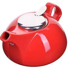 28682 <b>Заварочный чайник</b> керамика КРАСНЫЙ <b>950</b> мл <b>Loraine</b> ...