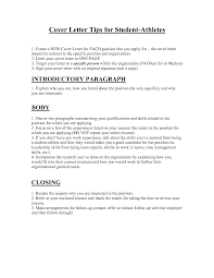 how to create a cover letter resume badak student athlete resume cover letter