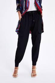 ZARA - Female - Basic <b>jogger</b> trousers - <b>Khaki</b> - <b>M</b> | Products in 2019 ...