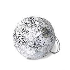 """<b>Шар новогодний декоративный</b> """"Paper ball"""", серебристый мрамор"""