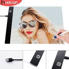 HUACAN <b>Diamond Painting A4</b> A5 <b>LED</b> Light Tablet Pad Diamond ...