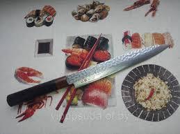 <b>Нож янагиба</b>, длина лезвия <b>21</b> см., <b>Suncraft</b> (ножны из дерева ...