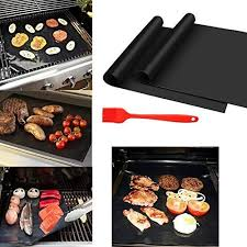 BBQ <b>Grill Mat Non</b>-<b>stick</b> 0.2mm Extra thick Baking Mat BBQ <b>Heat</b> ...